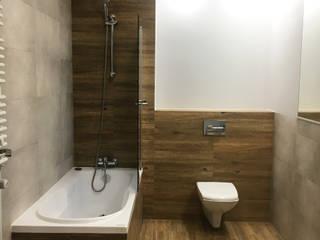 KHG Raumdesign - Innenarchitektin in Berlin und Umland, mgr. ing. Architektur Katharina Hajduk-Gast 現代浴室設計點子、靈感&圖片 磁磚 Brown