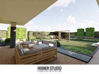 Hibner Studio Balcone, Veranda & Terrazza in stile moderno