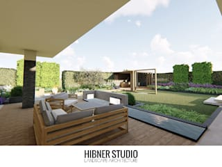 Modern balcony, veranda & terrace by Hibner Studio Modern
