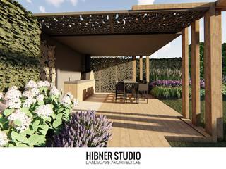 Hibner Studio Balcon, Veranda & Terrasse modernes