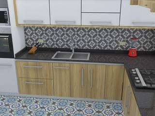 Proyecto de cocina:  de estilo  por Arquitectura e Ingenieria GM S.A.S, Moderno