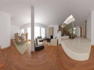 Diseño de casa unifamiliar en Cájica:  de estilo  por Arquetipo3d Maquetas y Proyectos