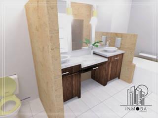 Render Perspectiva Propuesta Remodelación Baño : Baños de estilo  por INMOBA