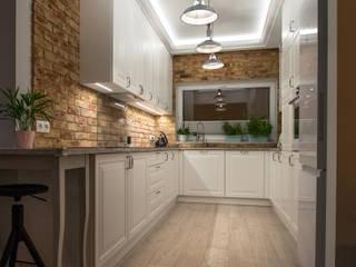 ememstudio Classic style kitchen Bricks White