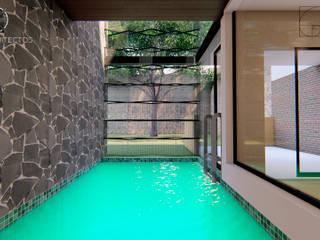 Garden Pool by GóMEZ arquitectos, Rustic