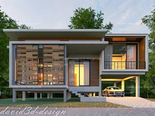 ผลงานออกแบบบ้านชั้นครึ่งเล่นระดับ จ.นนทบุรี โดย fewdavid3d-design