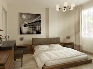 Emre Bayraktar Small bedroom OSB Wood effect