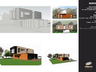 House Containers Lieux d'événements scandinaves par MOGRAPH INTERHIA ARCHITECTURE CONTAINERS Scandinave