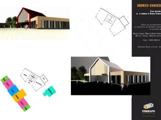 House Containers Ecoles minimalistes par MOGRAPH INTERHIA ARCHITECTURE CONTAINERS Minimaliste