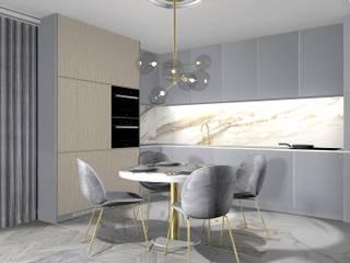 Kuchnia z jadalnią: styl , w kategorii Jadalnia zaprojektowany przez 91m2 Architektura Wnętrz
