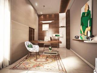 Ms. Safa'a Elayyan Villa Modern Study Room and Home Office by dal design office Modern