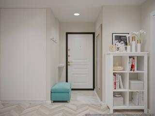 дизайн-бюро ARTTUNDRA Classic style corridor, hallway and stairs White