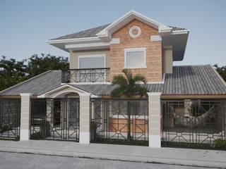 Projeto Casa  de Praia LE |(Casa de praia Cabo-Frio - RJ: Casas familiares  por Gelker Ribeiro Arquitetura | Arquiteto Rio de Janeiro