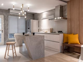 Tủ bếp theo 湜湜空間設計, Chiết trung