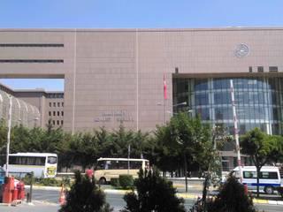 Vip Dekorasyon – Bakırköy Adliye Sarayı Dış Cephe Granit Uygulaması:  tarz Kongre Merkezleri