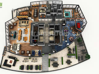 3D Rooftop Floor Plan Design Developed by Yantram Architectural Design Studio, Toronto - Canada Yantram Architectural Design Studio