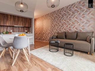 Salas de estilo  por KODO projekty i realizacje wnętrz