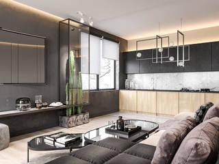 Zakopane nowadays flat Nowoczesny salon od Valido Architects Nowoczesny