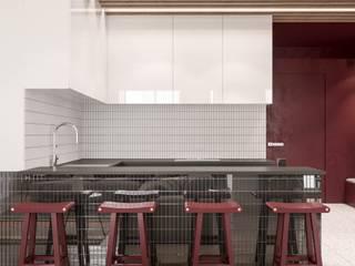 Wiśniowe popołudnie Nowoczesna kuchnia od Valido Architects Nowoczesny