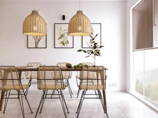 Pastelowy naturalizm Skandynawska jadalnia od Valido Architects Skandynawski