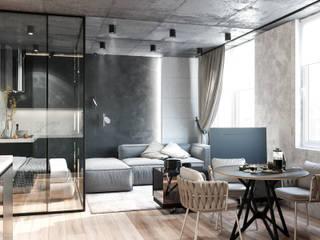 Gwiezdna droga Industrialny salon od Valido Architects Industrialny