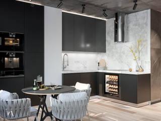 Gwiezdna droga Industrialna kuchnia od Valido Architects Industrialny
