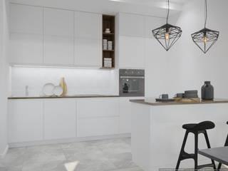Dapur Gaya Skandinavia Oleh дизайн-бюро ARTTUNDRA Skandinavia