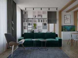 Ruang Keluarga Gaya Skandinavia Oleh дизайн-бюро ARTTUNDRA Skandinavia