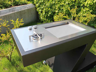 barbecue:  in stile  di ZED EXPERIENCE - indoor & outdoor kitchen