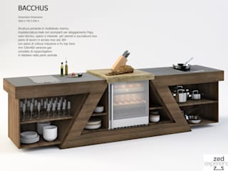 banco show cooking: Cantina in stile  di ZED EXPERIENCE - indoor & outdoor kitchen