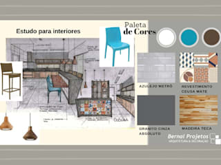 de estilo  por Bernal Projetos - Arquitetos em Salvador