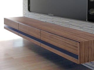 k-design(カワジリデザイン) Living roomTV stands & cabinets Plywood Wood effect