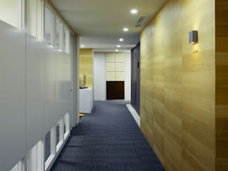 松岡淳建築設計事務所 Pasillos, vestíbulos y escaleras de estilo ecléctico