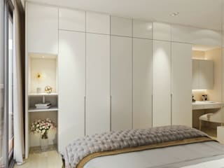 Quartos modernos por Singapore Carpentry Interior Design Pte Ltd Moderno