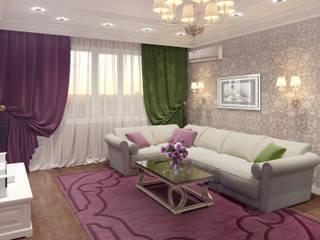 Дом с ароматом сирени. Частный дом в ст. Динская.: Гостиная в . Автор – PolyArt Design,