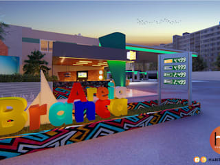Modern bars & clubs by Habitus Arquitetura Modern