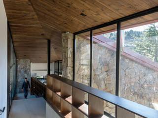 Casa en Cumbrecita Pasillos, vestíbulos y escaleras modernos de TECTUM Moderno