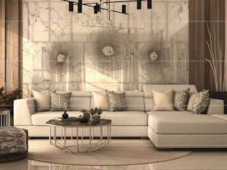 3BHK Interiors Modern living room by Fabmodula Modern