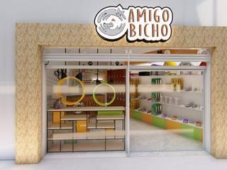 Pet Shop: Lojas e imóveis comerciais  por Fark Arquitetura e Design