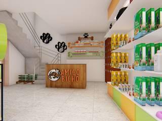 Pet Shop: Shopping Centers  por Fark Arquitetura e Design