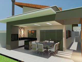 Casas unifamiliares de estilo  por Júlio Padilha Fabiani - Arquiteto,