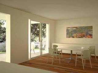 Il soggiorno dell'abitazione: Soggiorno in stile  di Ing. Massimiliano Lusetti