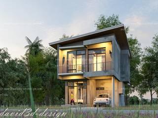 ผลงานการออกแบบบ้านพักอาศัย2ชั้น ปุณวิถี 43 สุขุมวิท101 กรุงเทพฯ โดย fewdavid3d-design
