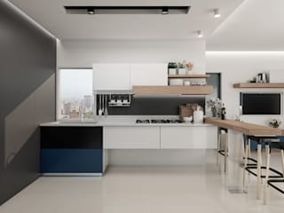 Built-in kitchens by Cindy Castañeda, Modern