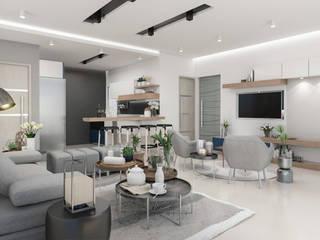 Living room by Cindy Castañeda, Modern