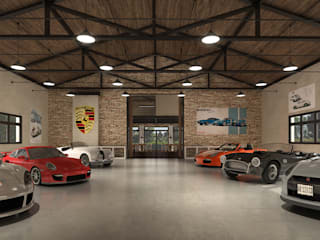 Garage/Rimessa in stile industriale di Fainzilber Arqts. Industrial