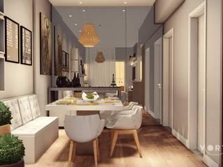 Cantinho Alemão: Salas de jantar  por Vortice Arquitetura