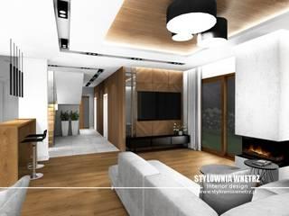 Stylownia Wnętrz Moderne woonkamers