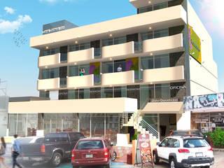 Hotel diseño: Hoteles de estilo  por Eduardo Zamora arquitectos,