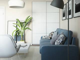 Квартира под аренду: Гостиная в . Автор – Yurov Interiors,